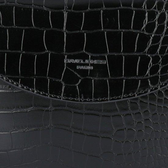 Elegantní Kabelky listonošky s motivem aligátora David Jones Černá