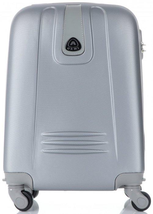 Palubní kufřík Or&Mi 4 kolečka stříbrný