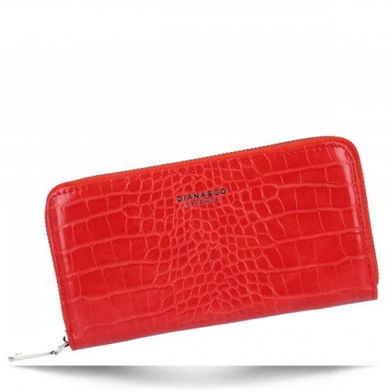 Elegantní Dámská Peněženka XL s motivem aligátora Diana&Co Červená