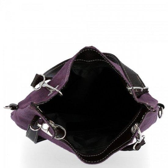 Kožené kabelky listonošky Dračí Fialová