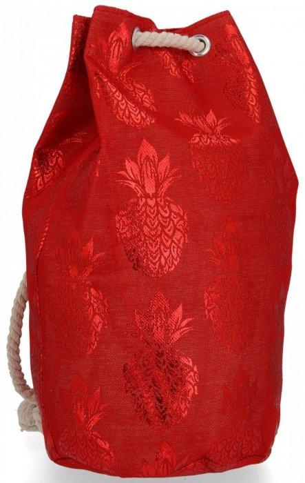 Módní Dámské Batohy vzor v ananasu Červený