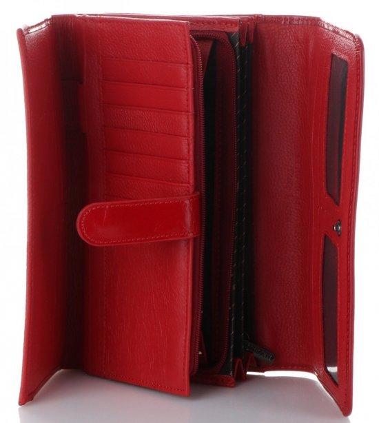 d778af7242870 Duży Klasyczny Skórzany Portfel Damski firmy Lorenti Czerwony ...