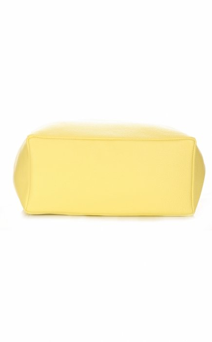 Włoskie Torebki Skórzane ShopperBag z Kosmetyczką Limonka