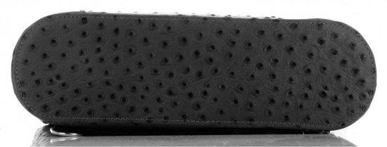 Włoska Torebka Skórzana firmy Genuine Leather Czarna