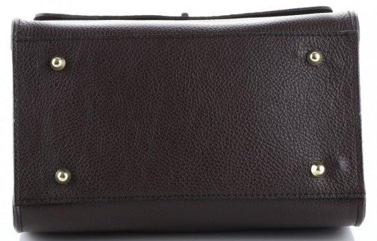 Elegancki Kuferek Skórzany Made in Italy wzór Aligatora Czekoladowy