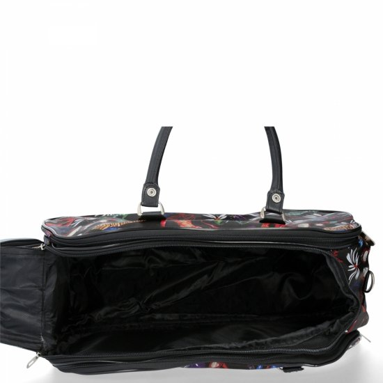 Średnia Torba Podróżna Kuferek Or&Mi Shoes Multikolor - Czarna