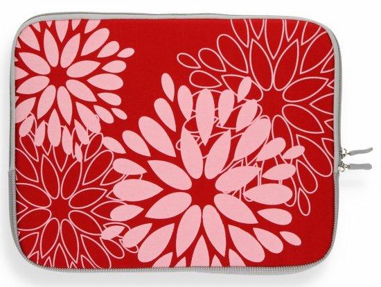 """Modne Etui na Tablet 12"""" wzór w kwiaty Czerwone"""