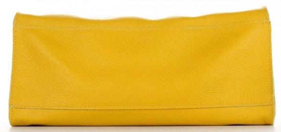 Praktyczne Torebki Skórzane 2 w 1 Shopper z Listonoszką firmy Genuine Leather Musztardowa