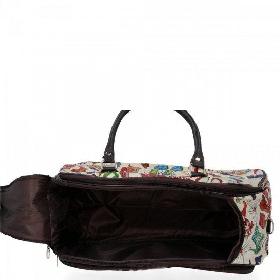 Średnia Torba Podróżna Kuferek Or&Mi Shoes Multikolor - Beżowa