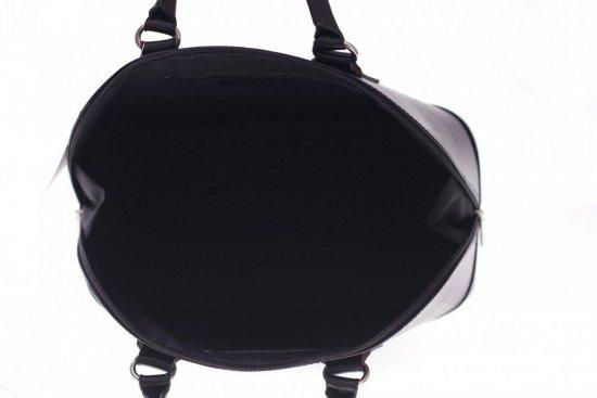 Torebka skórzana kufer Vera Pelle Czarny