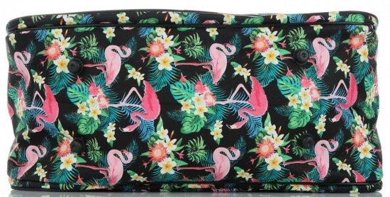 Średnia Torba Podróżna Kuferek Or&Mi Flamingil Multikolor - Czarna