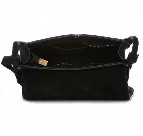Listonoszka Skórzana Genuine Leather Czarna