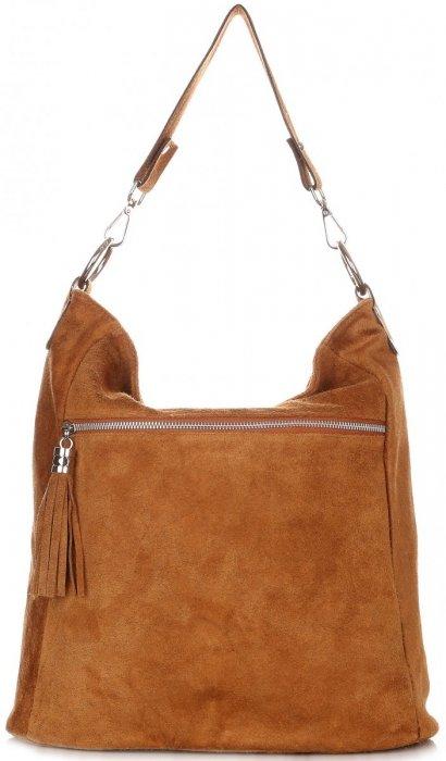 Uniwersalna Torebka Skórzana ShopperBag Genuine Leather Ruda
