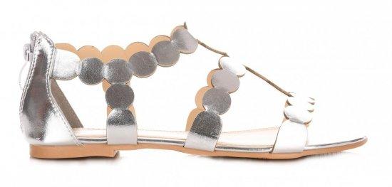 Sandały Damskie Srebrne