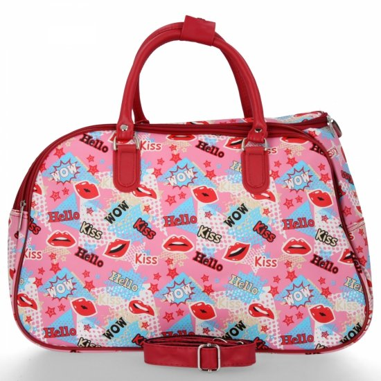 Mała Torba Podróżna Kuferek Or&Mi Kiss Multikolor - Różowa
