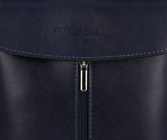 Klasyczna Listonoszka Skórzana firmy Vittoria Gotti Made in Italy Granat