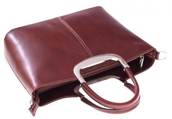 Torebka skórzana Klasyczna genuine leather Brązowa