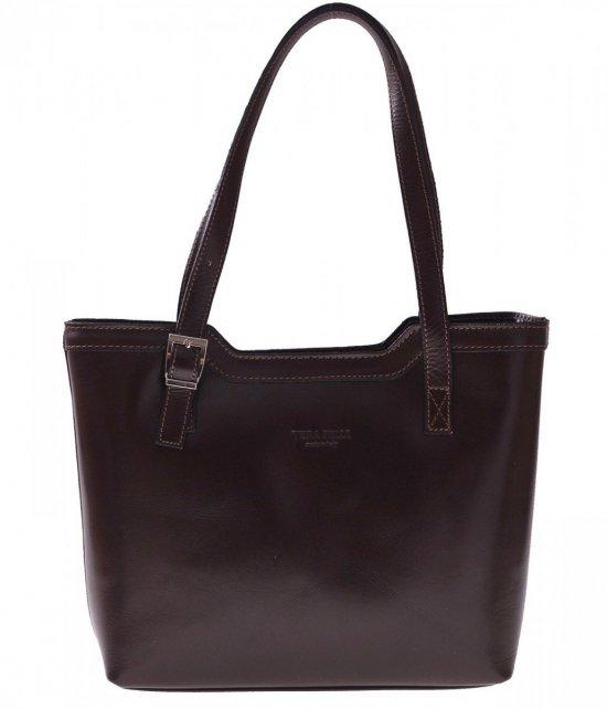 Klasické tašky z pravej kože čokolády