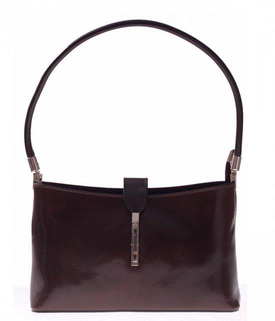 Klasické a elegantné čokoládové kožené tašky
