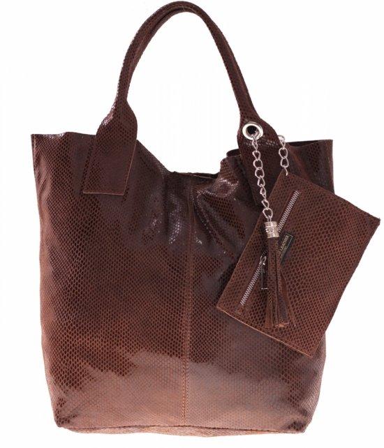 Shopper Bagi Patent Kožené Tašky Hnedá