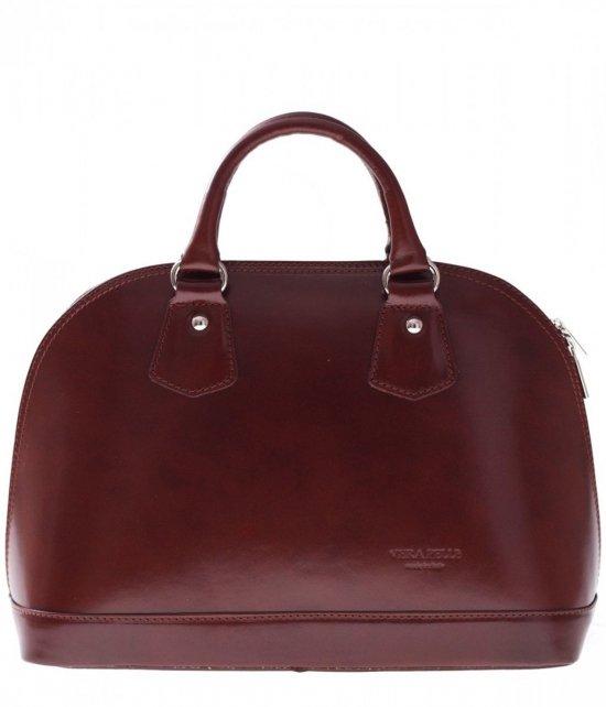 Kožená taška Vera Pelle hnedý