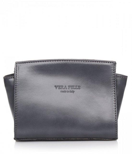 Módna kožená taška Vera Pelle Grey