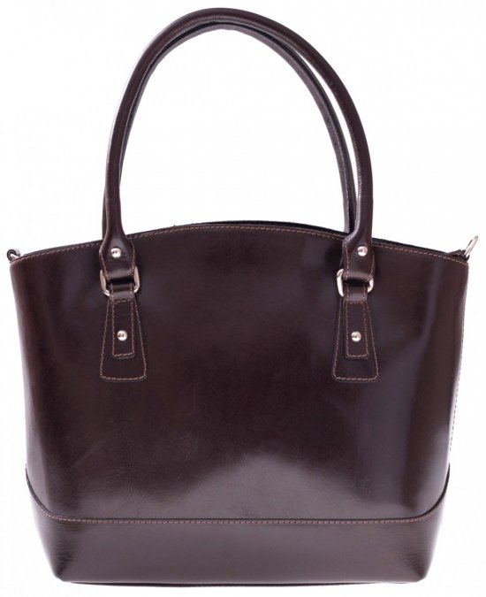 Univerzálne a neformálne čokoládové kožené tašky