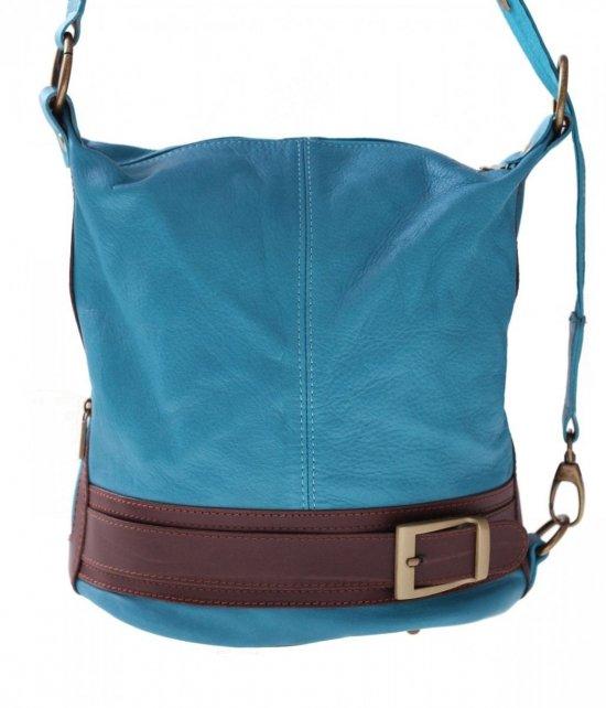 Bag batoh mäkká pravá koža tyrkysová