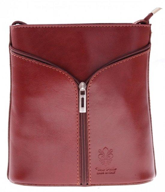 Kožená taška na messenger vyrobená v Taliansku z bronzu