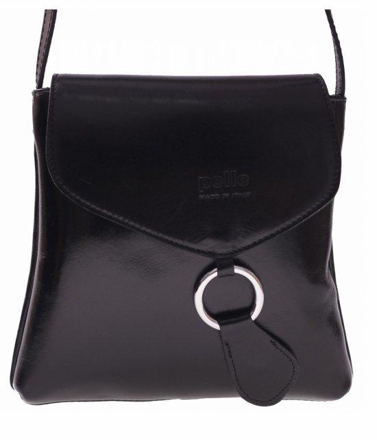 Kožená taška-poštár Vera Pelle Čierna