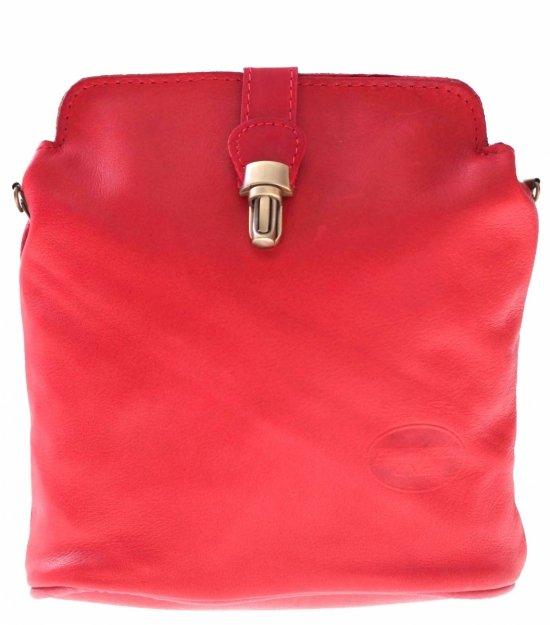 Taška z mäkkej pravej kože červená