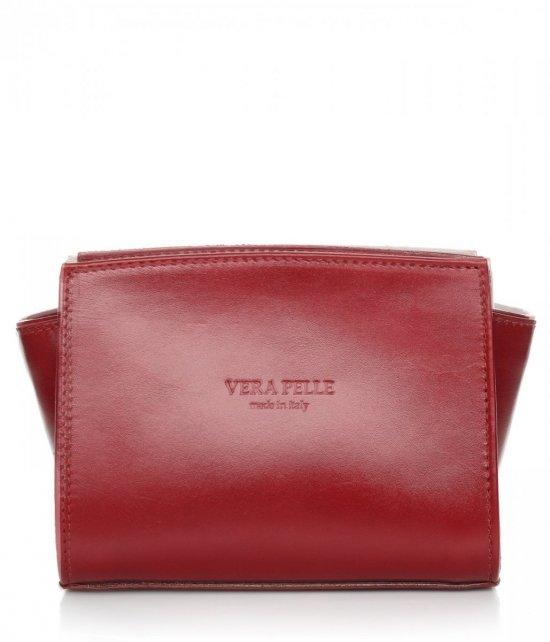 Módna kožená taška Vera Pelle Červená