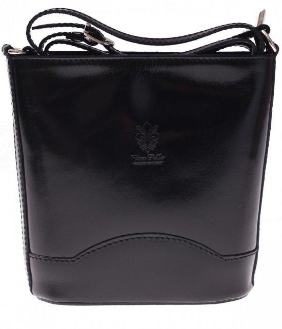 Elegantná Kožená taška Vera Pelle Čierna