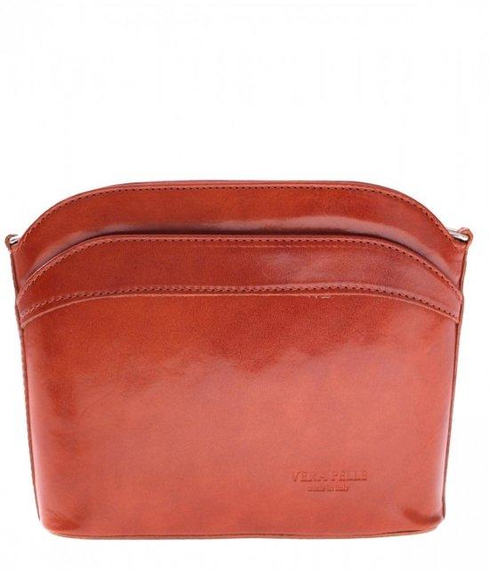 Kožené tašky messenger červená