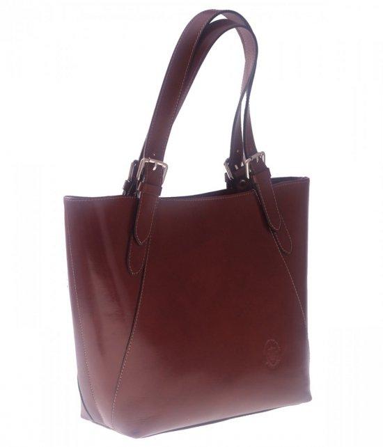 Univerzálna a príležitostná hnedá kožená taška