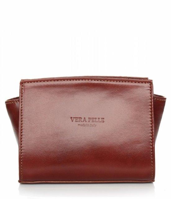 Módna kožená taška Vera Pelle hnedý