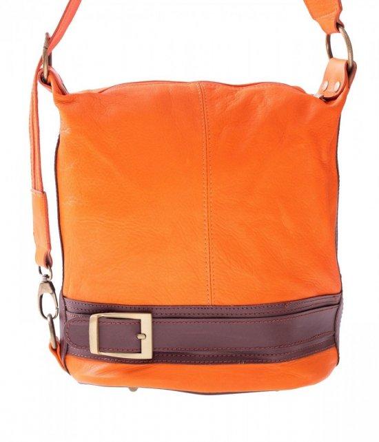 Bag batoh Mäkká Pravá koža oranžová