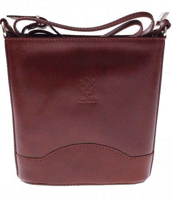 Elegantná Kožená taška Vera Pelle hnedý