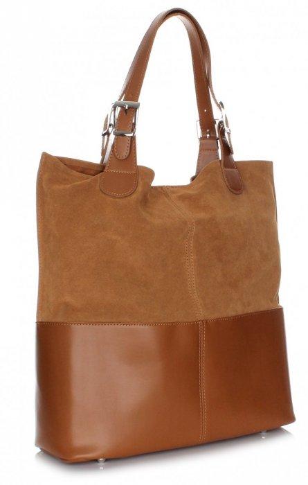 Exkluzívna Kožená taška Shopper Bag Ruda