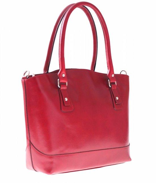 Univerzálne a ležérne kožené tašky červené