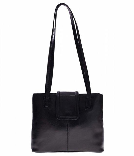 Univerzálne a ležérne kožené tašky 2 priehradky čierne