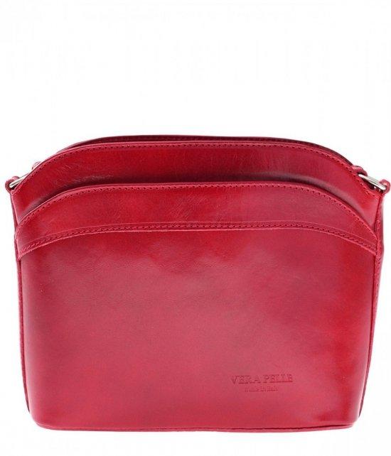 Tašky Messenger, kožené červené