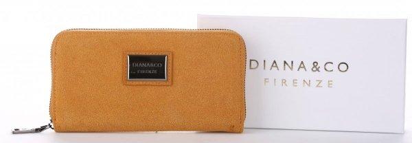a0eaaedfe4cdf Damski Portfel firmy Diana Co Firenze Musztarda - Panitorbalska.pl