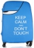 Obal na kufr Snowball L size Keep Calm and dont touch modrý