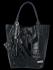 Univerzální Kožené Kabelky Shopper Bag XL se zvířecím motivem Vittoria Gotti Tmavě Modrá
