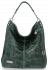 Vittoria Gotti Uniwersalna Torebka Skórzana w modny motyw żółwia Butelkowa Zieleń