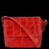 Vittoria Gotti Włoskie Torebki Damskie Listonoszki Skórzane w modny motyw żółwia Czerwona