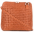 Mała Włoska Torebka Skórzana Listonoszka firmy Genuine Leather Pomarańczowa