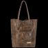 Vittoria Gotti Włoski Shopper XL Uniwersalna Torba Skórzana do noszenia na co dzień z modnym motywem Żółwia Jasny Brąz