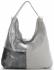 Włoska Uniwersalna Torba Skórzana w rozmiarze XL w modne wzory Jasno Szara
